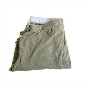 LL bean green sweatpants XL